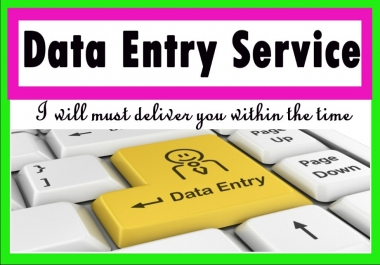 do excel word any data entry, typing, copy paste, data entry
