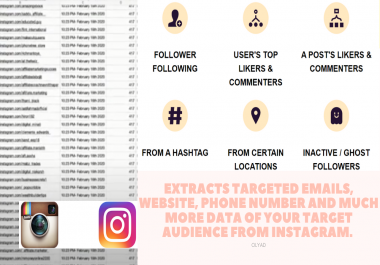 VA Instagram Target, Web Scrapping, Lead Generation, Data mining