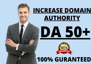 I will increase your website MOZ domain authority DA 50+ _ Guaranteed