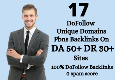 I will Build 17 Homepage Dofollow permanent unique domains PBN backlinks on DA 50+ DR 30+ Sites