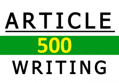 500 Professional SEO Article Writing Service