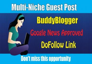 DoFoIIow Guest Post on BuddyBlogger DA57 - Multi-Niche Blog
