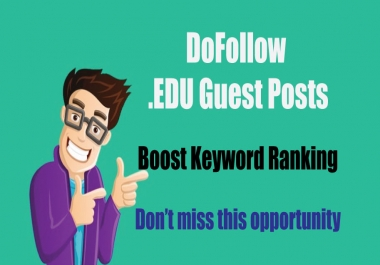 Write and Publish EDU Guest Posts on University Blog - DoFoIIow Links