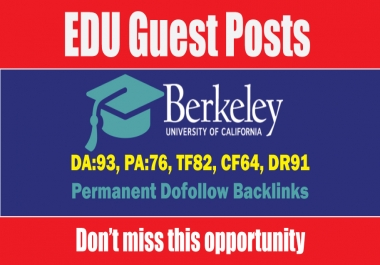 Write and Publish EDU Guest Post on Berkeley DA93, DR91 - DoFoIIow Link