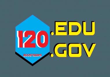 Build 120 EDU GOV Backlinks From TOP EDU/GOV Domains