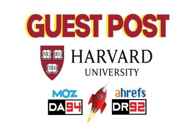 Edu Guest Post On Harvard - DA94 & DR92 - DoFollow Link