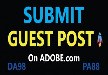 Publish Guest Post on Adobe, DA98, DR96