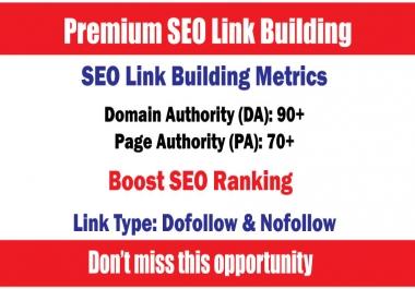 Boost SEO Ranking by DA90+ 30 Premium SEO Link Building