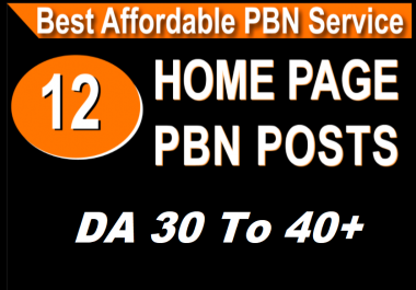 Homepage 12 PBN High Domain Authority DA 25 t0 50+ Backlinks aged domains