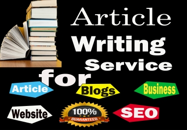 do 500x5 word article writing and seo blog post or content writing