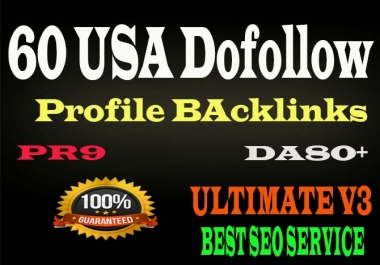 Create 60+ USA DA90+ High Quality Dofollow Profile Backlinka