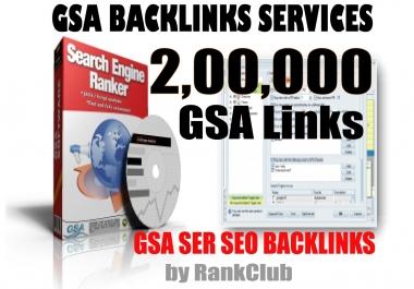 200000 (200K) GSA SER Unique Backlinks (Multi-level Tier) for Fast Ranking