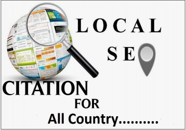 Create manually 200 google point map citation for local business