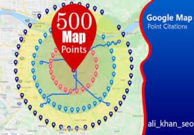 Create manually 500 google map citation for local seo