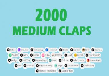 2000 medium article claps to make viral