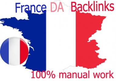 I will create 10 france high quality seo backlinks