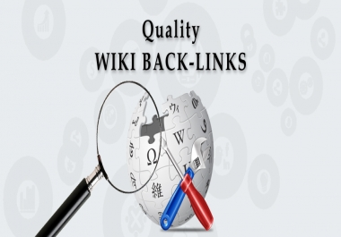 Create manually 100 wiki backlinks high quality