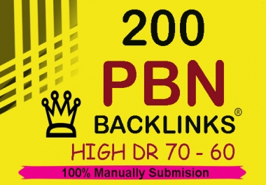 Create 200 Permanent DR 50+ Homepage high quality pbn backlinks