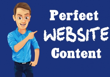 i write a professional website content