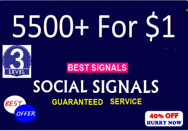 Top 5 Sites 5500+ Social Signals To Boost Your Site Ranking & SEO Up