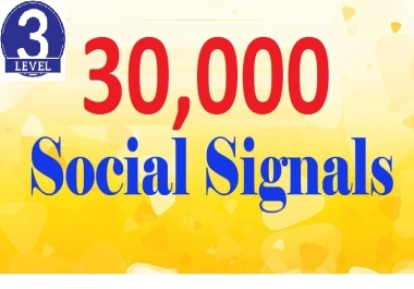 Hi Power! I will Provide Top 3 Sites, 30,000+ Social Signals Backlinks To boost Your Site SEO