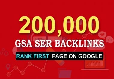 i Build 200,000 Gsa Ser backlink To improve Google Ranking