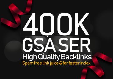 i Build 400,000 Gsa Ser backlink To improve Google Ranking