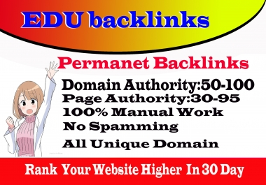 I Will Create 10 HQ SEO Edu Link Building From DA70+ Domains