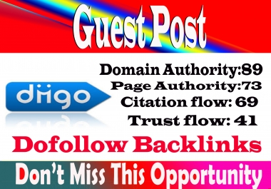 write and publish a Dofoll0w guest post Diigo, diigo. com DA 89 With permanent strong backlink