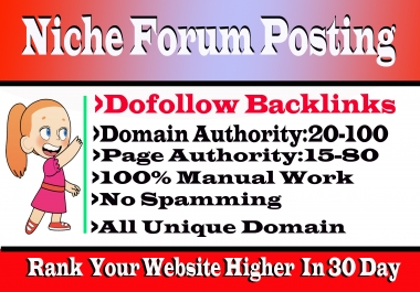 I Will Do 10 Niche Relevant Forum Posts High DA Backlinks