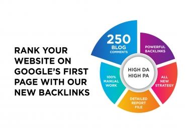 I will Creat 250 Dofollow Blog Comments Backlinks on High DA