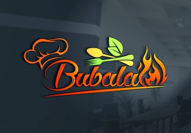 modern restaurant café chef catering fast food BBQ logo(2 HQ Concepts /5 Revisions / HQ JPEG + PNG)