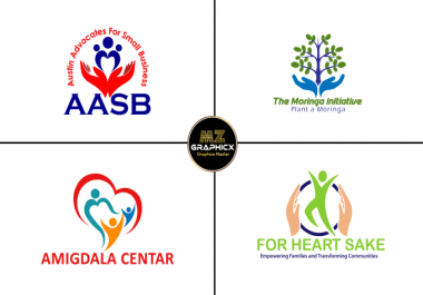 Design outstanding nonprofit, community and charity logo(1 Simple Logo Designs + PNG + JPG + 3D Mock