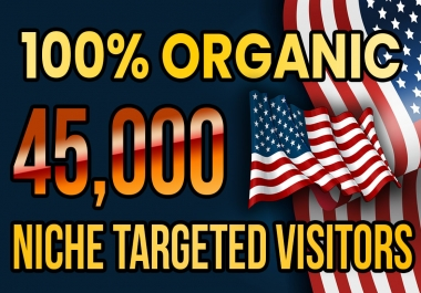 Drive real USA targeted web traffic(60K visitors)