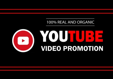 We Will Do viral YouTube video promotion & Chanel Promotion Via Real Audience