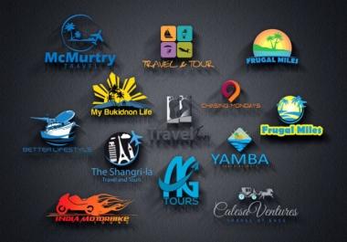 create an unique travel agency logo