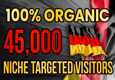 Drive real Germany targeted web traffic (60K visitors)
