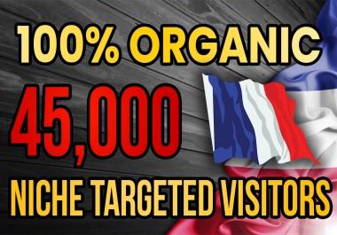 Drive real France targeted web traffic(60K visitors)