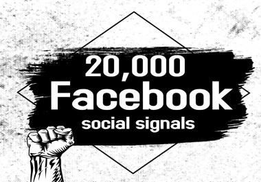 Powerful 20,000 Facebook Social Signals SEO Boost Google Ranking Bookmark Social