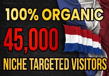 Drive real Netherlands targeted web traffic (60K visitors)