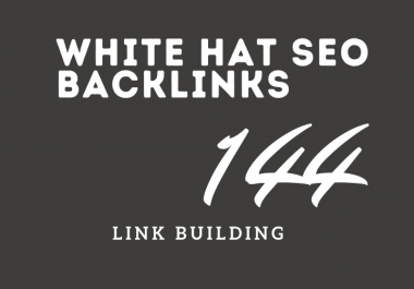 144 white hat SEO backlinks link building