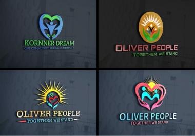 design outstanding nonprofit, community and charity logo(2 Unique Logo Designs + PNG + JPG + 3D Mock