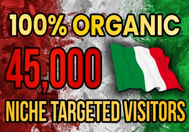 Drive real Italy targeted web traffic(60K visitors)