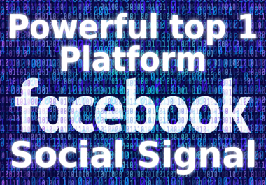 500K+ Top Powerful Site Facebook Social Signals SEO