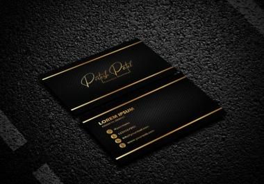 Luxury modern unique business card design