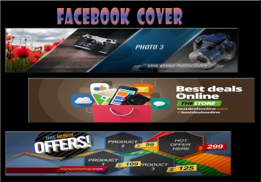 I will design attractive Facebook cover and social media Banners