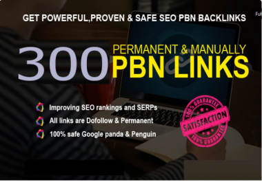 Get Powerfull 300 Primium Backlink and PBN with High DA/PA on your Homepage with unique website