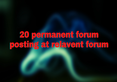 i will provide 15 relevant forum posts