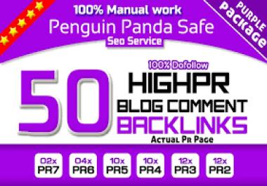 I will do 50 high da pa tf cf manual blog comments SEO backlink