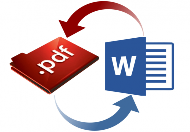 I will convert PDF to word documents and images